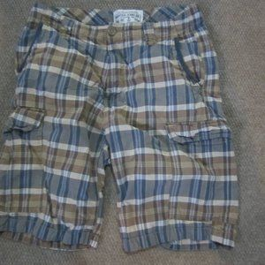 Nautica 32 Brown Madras Plaid Shorts